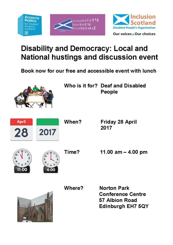 Disability & Democracy Flyer, Page 1