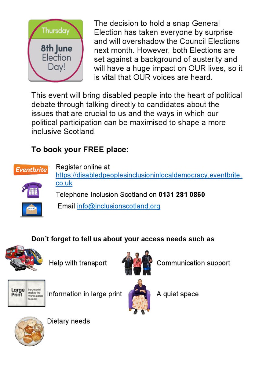 Disability & Democracy Flyer, page 2